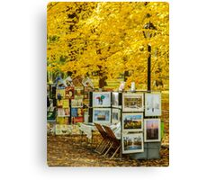 Autumn in Central Park, Study 3 Canvas Print