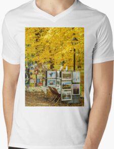 Autumn in Central Park, Study 3 Mens V-Neck T-Shirt