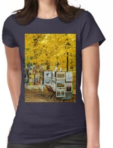 Autumn in Central Park, Study 3 Womens Fitted T-Shirt