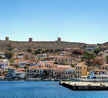 Halki Harbour Panorana by Tom Gomez