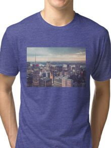 Clearing Storm from Top of the Rock Tri-blend T-Shirt