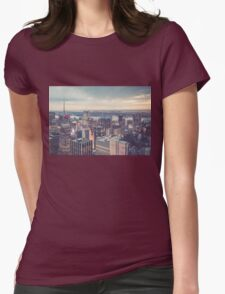 Clearing Storm from Top of the Rock Womens Fitted T-Shirt