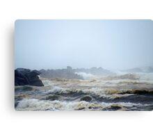 Pacific Ocean, North Jetty, Ocean Shores, Washington Canvas Print