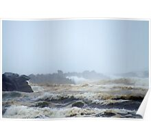 Pacific Ocean, North Jetty, Ocean Shores, Washington Poster