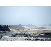 Pacific Ocean, North Jetty, Ocean Shores, Washington Photographic Print