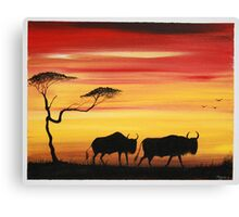 Wildebeest Canvas Print