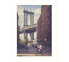 Bike Ride in Dumbo Art Print