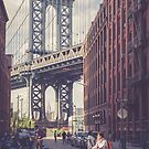 Bike Ride in Dumbo by Randy  LeMoine