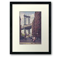 Bike Ride in Dumbo Framed Print