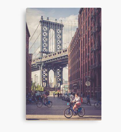 Bike Ride in Dumbo Canvas Print