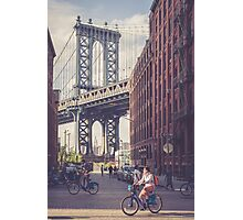 Bike Ride in Dumbo Photographic Print