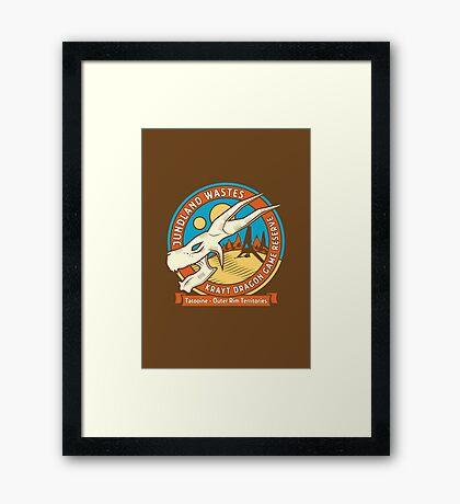 Krayt Dragon Game Reserve Framed Print