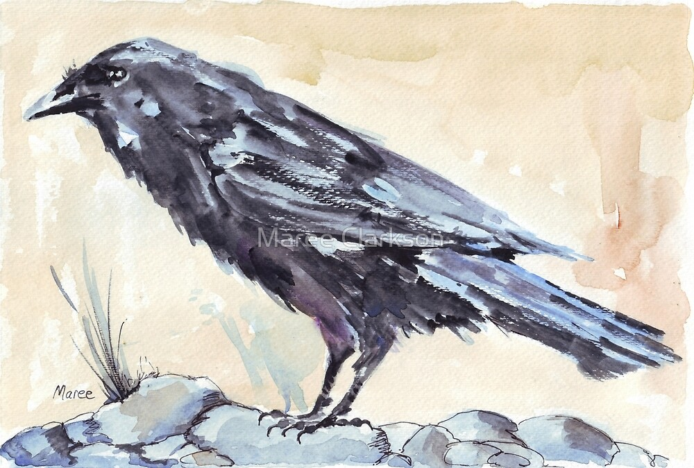 Crow as a Spirit guide by Maree Clarkson