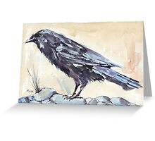 Crow as a Spirit guide Greeting Card