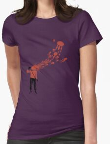 Trekkies in the Attic (spray version) Womens Fitted T-Shirt