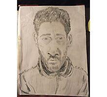 Self-portrait -(050312)- graphite stick/A4 paper Photographic Print