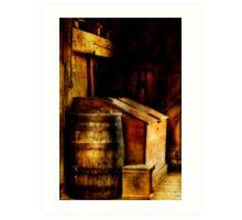 Barn Barrel Art Print