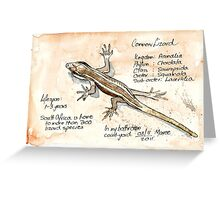 African Striped Skink - Not so easy! Greeting Card