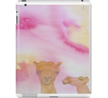 Two camels under a hot sun. iPad Case/Skin