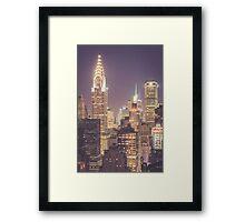 Chrysler Building Dusk Framed Print