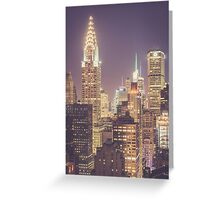 Chrysler Building Dusk Greeting Card