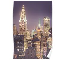 Chrysler Building Dusk Poster
