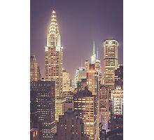 Chrysler Building Dusk Photographic Print