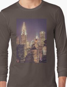 Chrysler Building Dusk Long Sleeve T-Shirt
