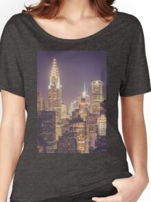 Chrysler Building Dusk Women's Relaxed Fit T-Shirt