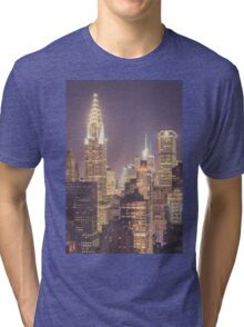 Chrysler Building Dusk Tri-blend T-Shirt
