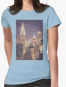 Chrysler Building Dusk Womens Fitted T-Shirt