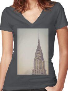 Chrysler Profile Women's Fitted V-Neck T-Shirt