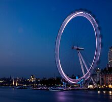 London - The Eye at Twilight by Kaitlin Kelly