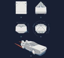 Origami DeLorean Kids Tee