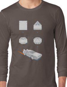 Origami DeLorean Long Sleeve T-Shirt