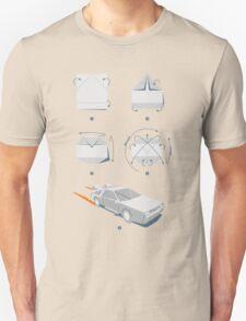 Origami DeLorean Unisex T-Shirt
