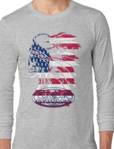 usa indian flag logo by rogers bros Long Sleeve T-Shirt