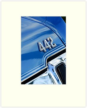 1970 Oldsmobile 442 Emblem by Jill Reger