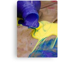 Paint play Canvas Print