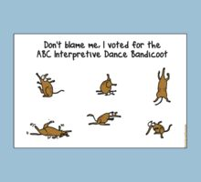 ABC Interpretive Dance Bandicoot Kids Clothes