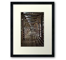 The waiting area Framed Print