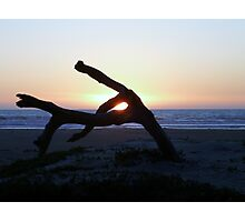 Wooden fingers........plus a sunset. Photographic Print