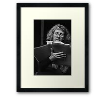 Speaker at Anti Swearing Rally Framed Print