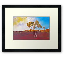 Red Centre Dawn Framed Print