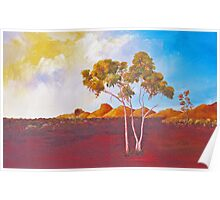 Red Centre Dawn Poster