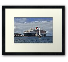 Queen Mary 2 at Station Pier Framed Print