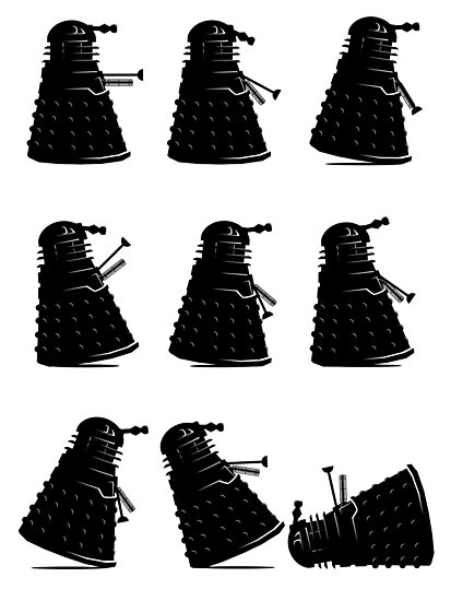 Ministry of Dalek Silly Walks by Vincent Carrozza