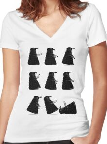 Ministry of Dalek Silly Walks Women's Fitted V-Neck T-Shirt