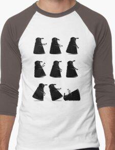 Ministry of Dalek Silly Walks Men's Baseball ¾ T-Shirt