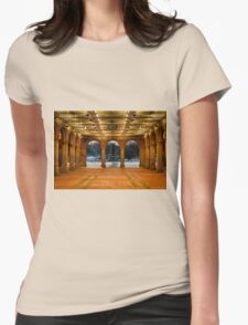Bethesda Arcade Snow Womens Fitted T-Shirt